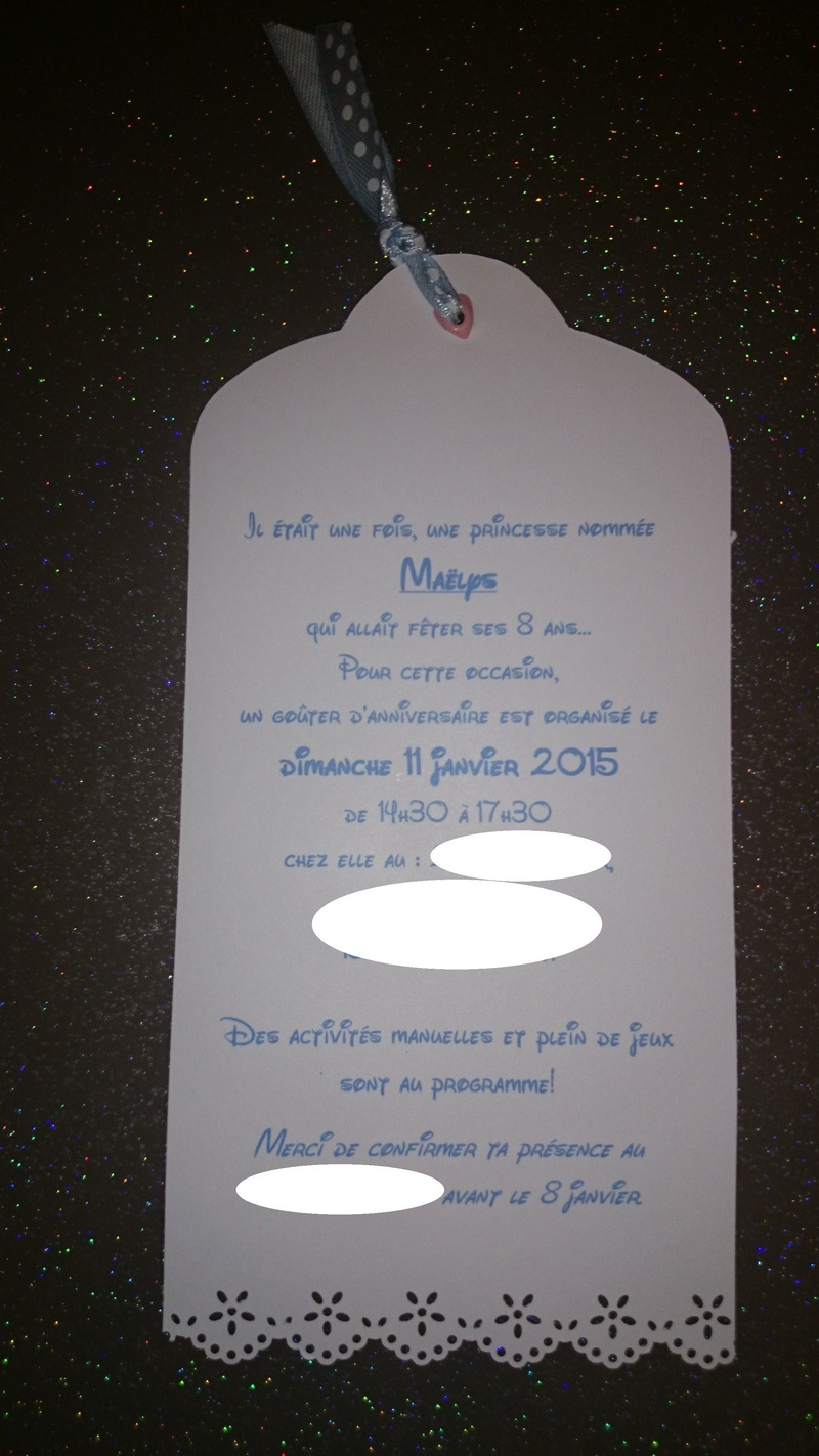 Carte D Invitation Anniversaire Theme Reine Des Neiges